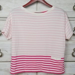 Vineyard Vines mixed stripe pocket t-shirt